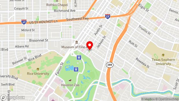 Google Map of 1500 Binz, Houston, TX 77004
