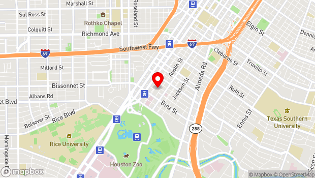 Google Map of 5401 Caroline St., Houston, TX 77004-6804