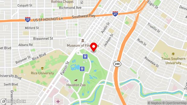 Google Map of 1515 Hermann Dr., Houston, TX 77004