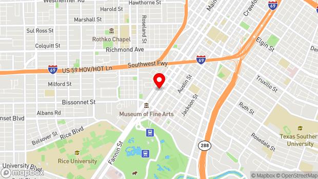 Google Map of 5200 Fannin, Houston, TX 77004