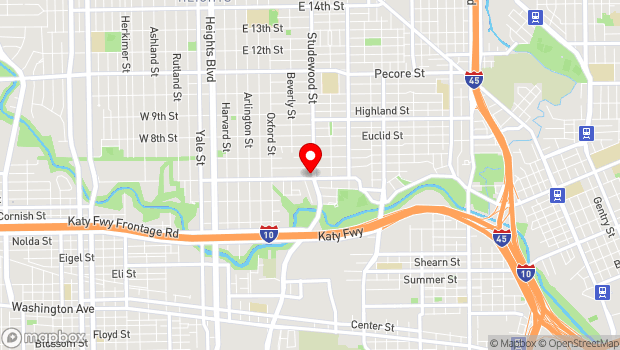 Google Map of 2706 White Oak Dr., Houston, TX 77007
