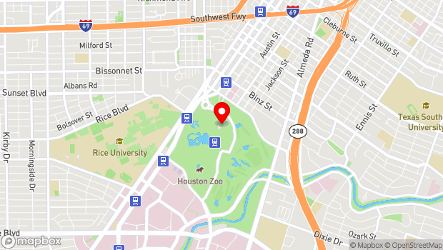 Google Map of 6000 Hermann Park Dr., Houston, TX 77030