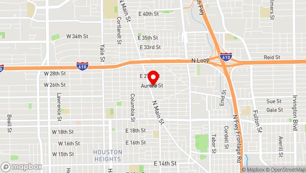 Google Map of 800 Aurora Street, Houston, TX 77009