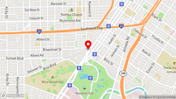 Google Map of 1001 Bissonnet Street, Houston, Tx 77005