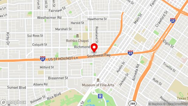 Google Map of 4411 Montrose Blvd., Houston, Tx 77006