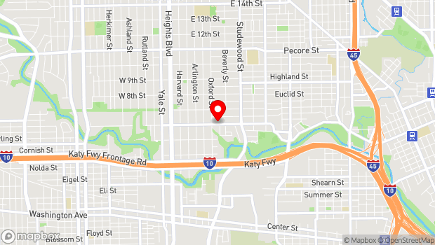 Google Map of 3106 White Oak, Houston, TX 77007