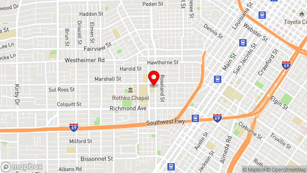 Google Map of 3800 Montrose Blvd., Houston, TX 77006
