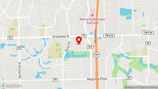 Google Map of 11200 W Broadway St, Pearland, TX 77584