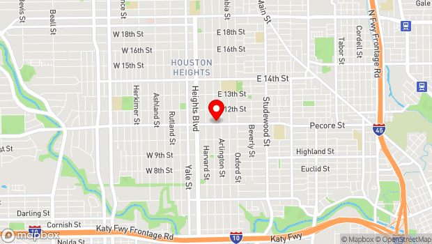 Google Map of 303 East 11th St., Houston, Tx 77008