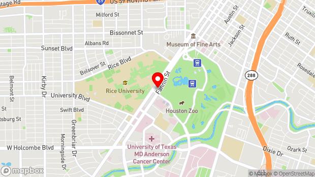 Google Map of 6221 Main Street, Houston, TX 77030