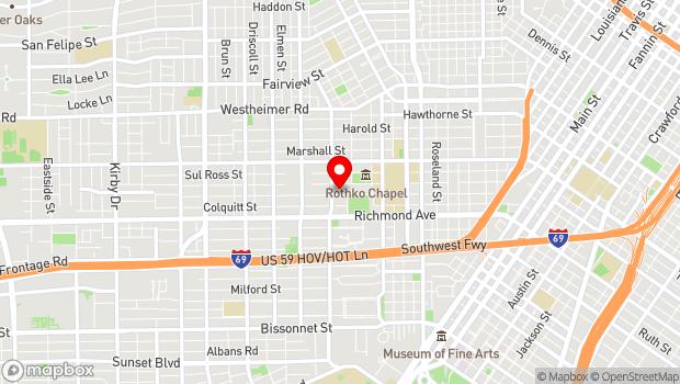 Google Map of 1520 W. Main, Houston, TX 77006