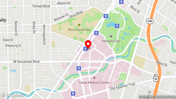 Google Map of 6565 Fannin St., Houston, TX 77030