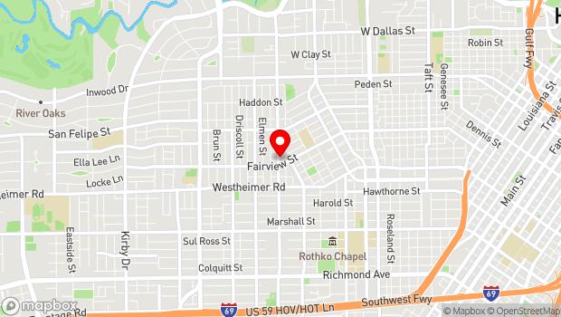 Google Map of 2305 Dunlavy, Houston, TX 77006