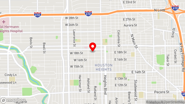 Google Map of 311 W. 18th Street, Houston, TX 77008