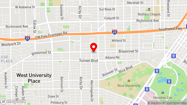 Google Map of 2337 Bissonnet, Houston, TX 77005