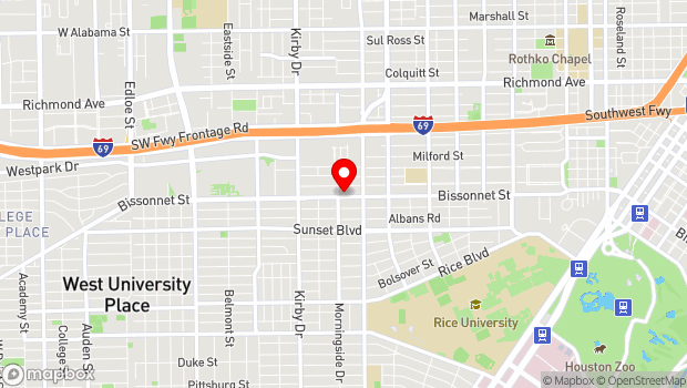 Google Map of 2342 Bissonnet, Houston, TX 77005