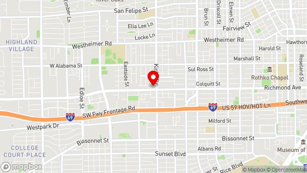 Google Map of 2625 Colquitt Street, Houston, TX 77098