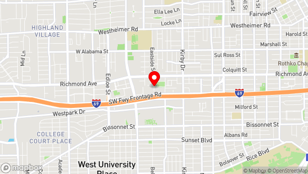 Google Map of 3801 Eastside Dr., Houston, TX 77098