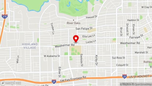 Google Map of 2450 River Oaks Blvd., Houston, TX 77019