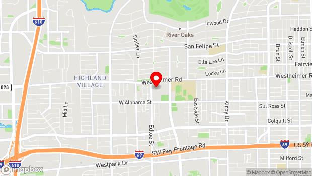 Google Map of 3471 Westheimer Rd, Houston, TX 77027