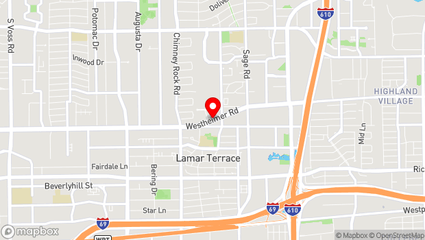 Google Map of 5420 Westheimer Road, Houston, TX 77056