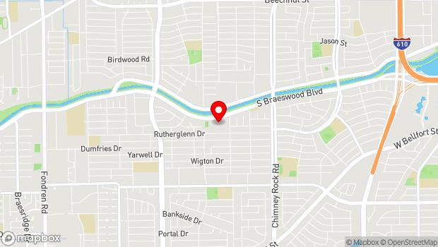Google Map of 5601 S. Braeswood Blvd., Houston, TX 77096