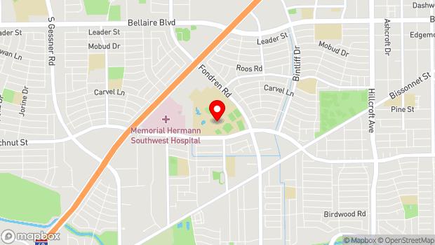 Google Map of 7502 Fondren Road, Houston, TX 77074