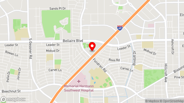 Google Map of 7326 Southwest Freeway, Houston, TX 77074