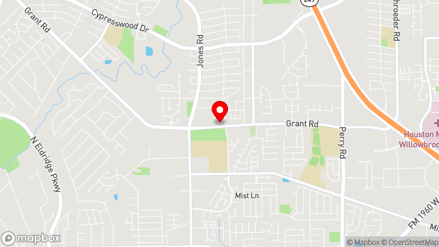 Google Map of 10760 Grant Road, Houston, TX 77070