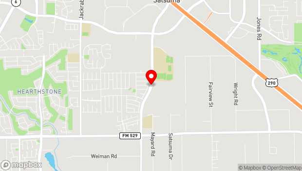 Google Map of 7979 N. Eldridge Rd., Houston, TX 77041