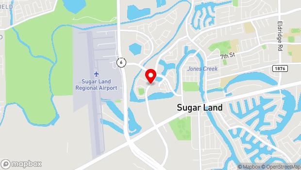 Google Map of 1 Stadium Drive, Sugar Land, TX 77498