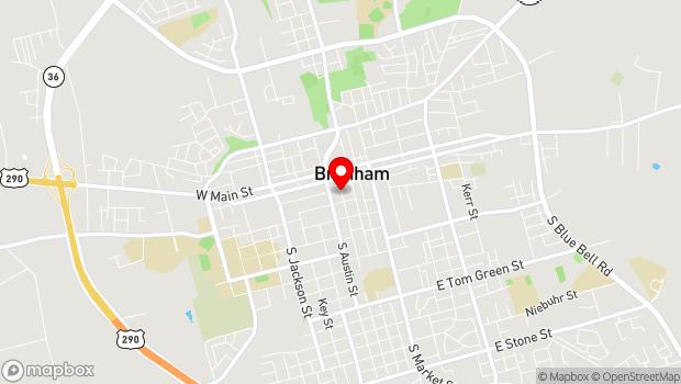 Google Map of 300 Church St., Brenham, TX 77833