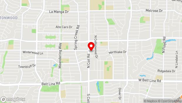 Google Map of 650 N. Coit #2320, Richardson, TX 75080