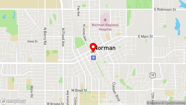 Google Map of 101 E Main St., Norman, OK 73069