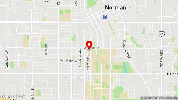 Google Map of 500 W Boyd St. , Norman, OK 73019