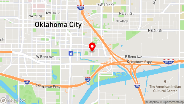 Google Map of 401 E. California Ave. , Oklahoma City, OK 73104