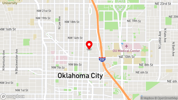 Google Map of NW 11th and Broadway, Oklahoma City, OK 73103