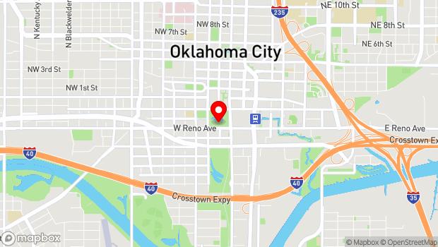 Google Map of 301 W Reno Ave, Oklahoma City, OK 73103