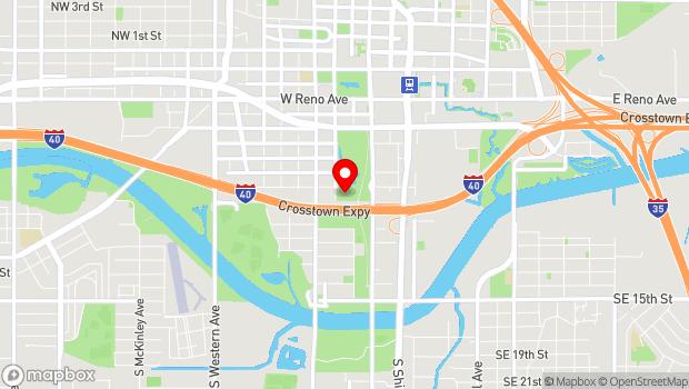 Google Map of 300 SW 7th St, Oklahoma City, OK