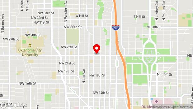 Google Map of 425 NW 23rd St., Oklahoma City, OK 73103