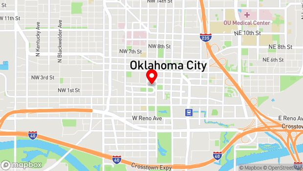 Google Map of 415 Couch Dr, Oklahoma City, OK 73102
