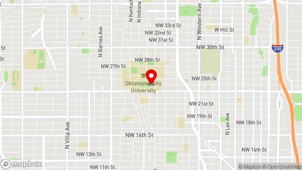Google Map of 2501 N Blackwelder Avenue, Oklahoma City, OK 73102