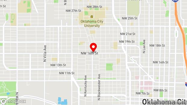 Google Map of 1751B NW 16th Street, Oklahoma City, OK 73106