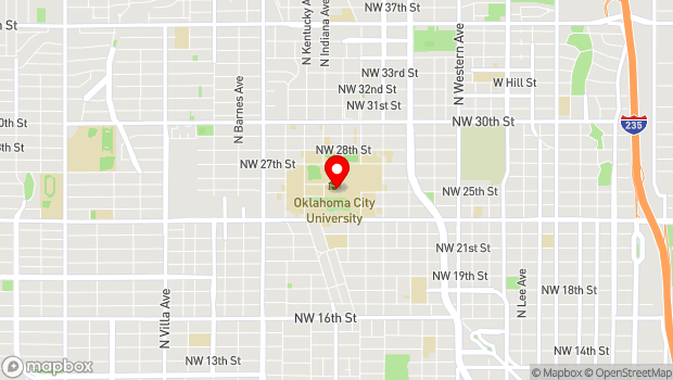 Google Map of 2501 N Blackwelder Ave, Oklahoma City, OK 73106