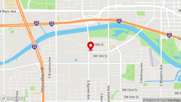 Google Map of 2221 Exchange Ave., Oklahoma City, OK 73108