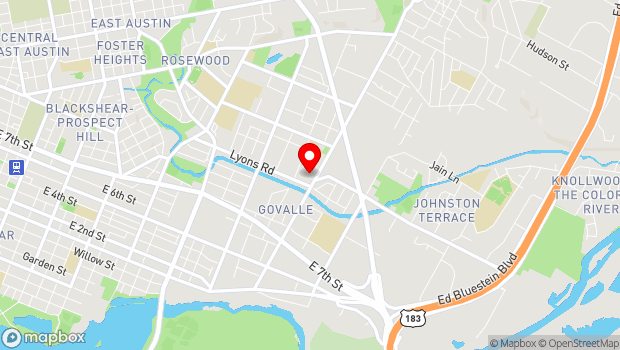 Google Map of 916 Springdale Rd. Bldg 2, #102, Austin, TX 78702
