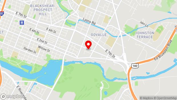 Google Map of 3411 East 5th Street, Austin, TX 78702