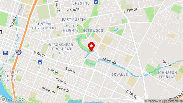 Google Map of 2800 Webberville Road, Austin, TX 78702