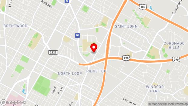 Google Map of 6000 Middle Fiskville Road, Austin, TX 78752