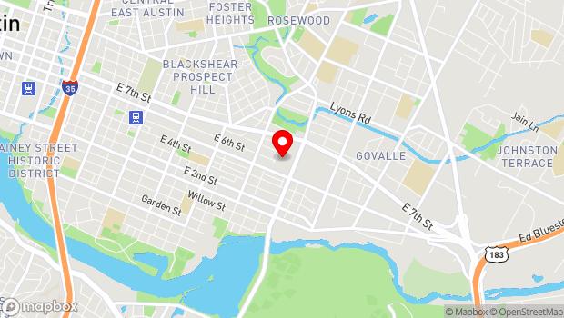 Google Map of 507 East Calles Street, Austin, Texas 78702